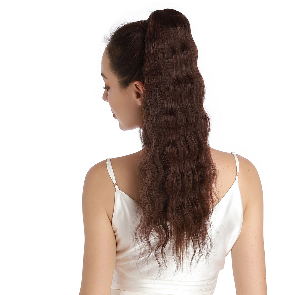 Clip in Ponytail 16inch 80G #4 Medium Brown
