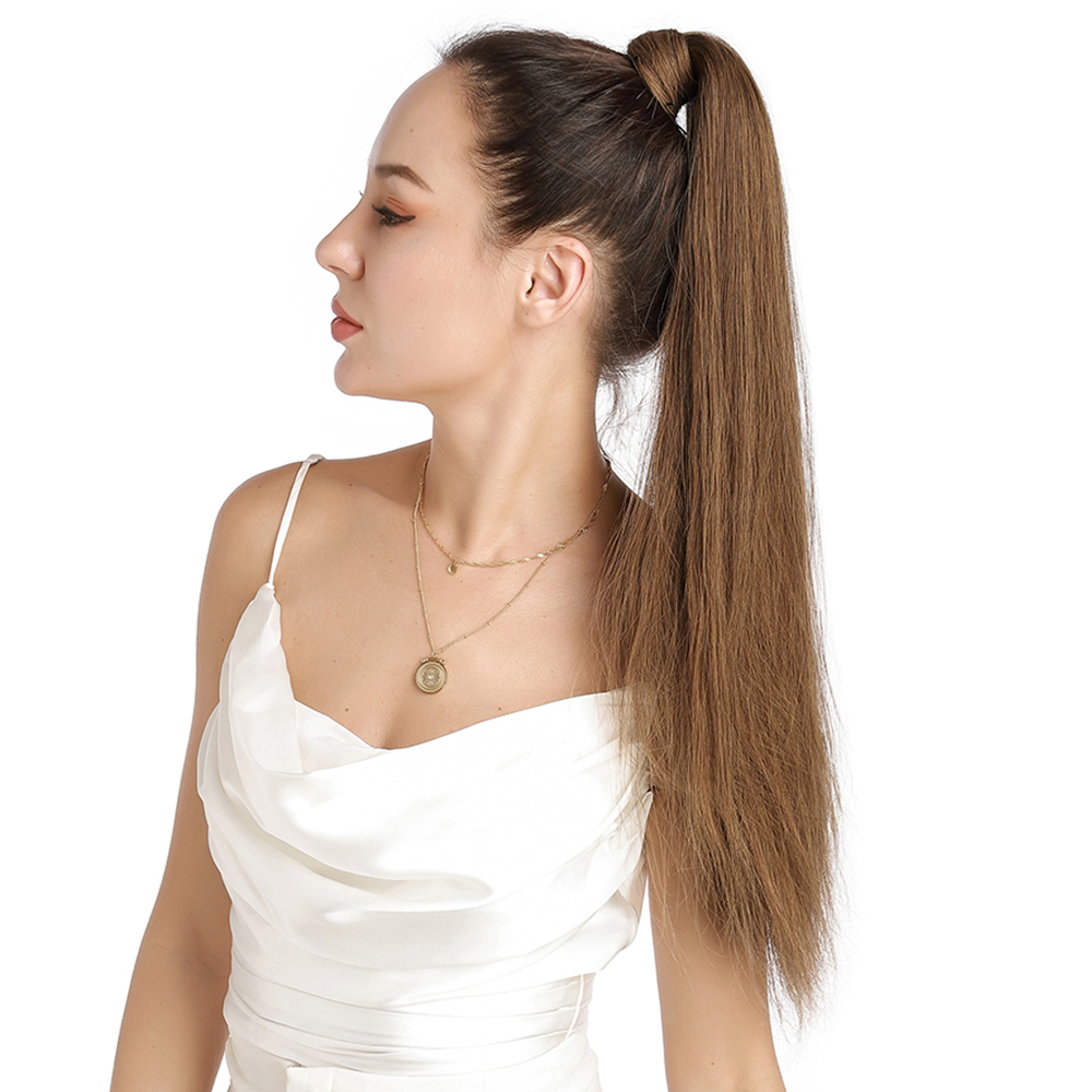 Clip in Ponytail 16inch 80G #6 Light Brown