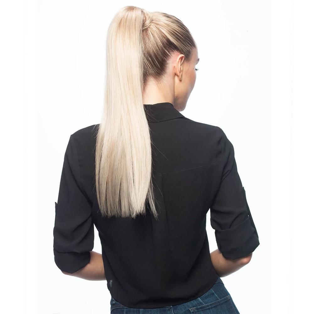 Clip in Ponytail 16inch 80G #60 Platinum Blonde