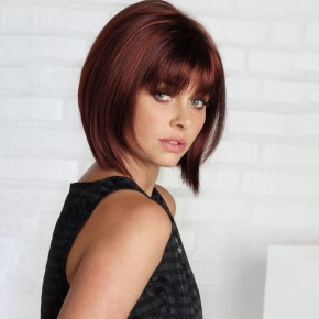 Remy Human Hair Topper #99J Wine Red