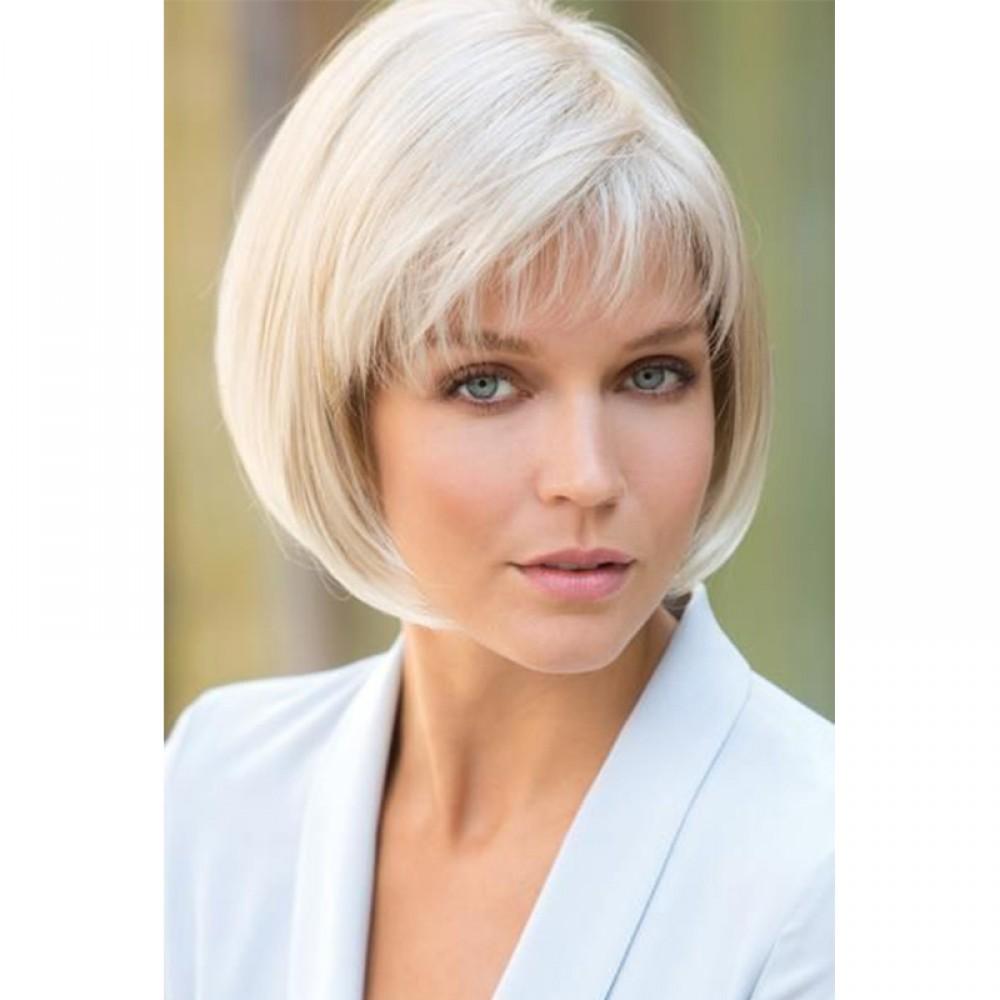 Remy Human Hair Topper #60 Platinum Blonde