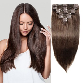 Clip In Remy Hair Extensions #2 Dark Brown