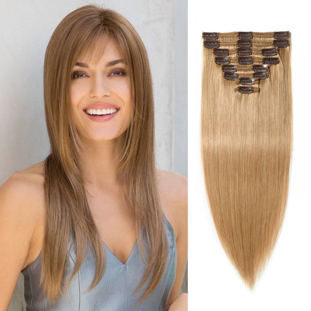 Clip In Remy Hair Extensions#27 Dark Blonde