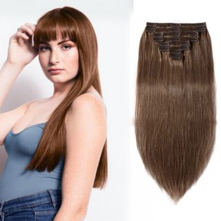 Clip In Remy Hair Extensions#30  Light Auburn