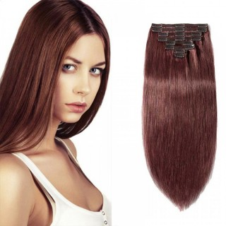 Clip In Remy Hair Extensions #33 Dark Auburn