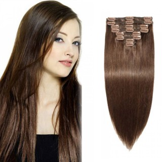 Clip In Remy Hair Extensions #4 Medium Brown