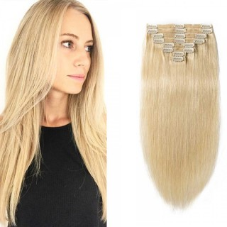 Clip In Remy Hair Extensions #613 Bleach Blonde