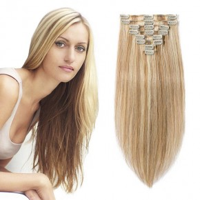 "160g 20"" Clip In Remy Hair Extensions #12/613"