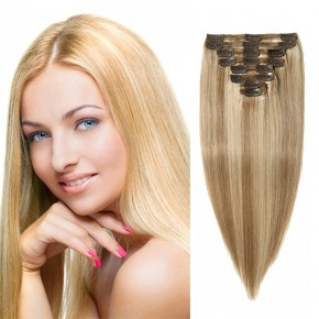 "160g 20"" Clip In Remy Hair Extensions #18/613"