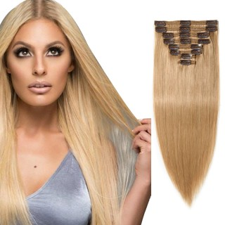 "180g 22"" Clip In Remy Hair Extensions #27 Dark Blonde"