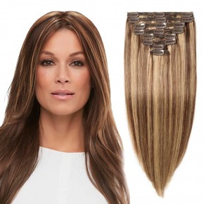 """180g 22"""" Clip In Remy Hair Extensions #4/27"""