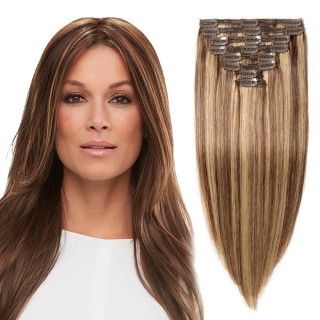 "180g 22"" Clip In Remy Hair Extensions #4/27"