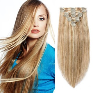 "240g 24"" Clip In Remy Hair Extensions #12/613"
