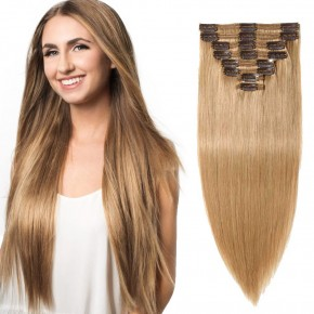 """240g 24"""" Clip In Remy Hair Extensions #27 Dark Blonde"""