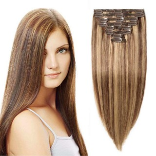 "240g 24"" Clip In Remy Hair Extensions #4/27"