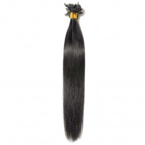 0.5g/s 100s #1 Dark Black Straight U-Tip Hair Extensions