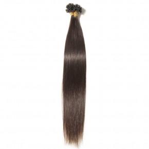 0.5g/s 100s #2 Dark Brown Straight U-Tip Hair Extensions