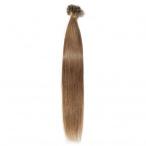 0.5g/s 100s #6 Light Brown Straight U-Tip Hair Extensions