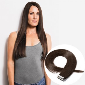 20pcs 2.5g/s #4 Medium Brown Straight Tape In Hair Extensions