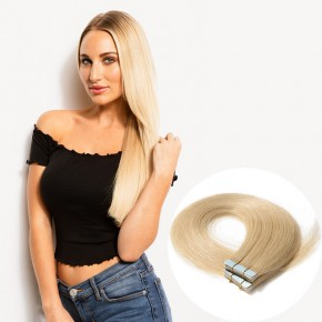 20pcs 2.5g/s #613 Bleach Blonde Straight Tape In Hair Extensions