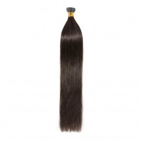 50g 0.5g/s #2 Dark Brown Straight I-Tip Hair Extensions