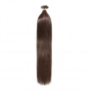 50g 0.5g/s #4 Medium Brown Straight I-Tip Hair Extensions