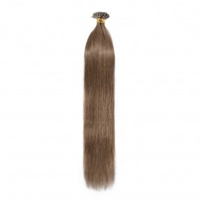 50g 0.5g/s #6 Light Brown Straight I-Tip Hair Extensions