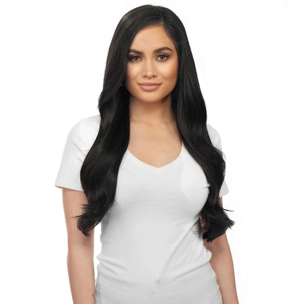 Halo Hair  16 inch 90G #1 Dark Black